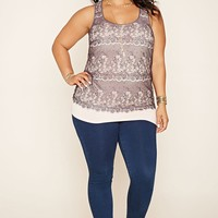 Plus Size Eyelash Lace Top