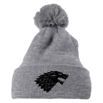 Game Of Thrones Wolf Knit Pom Cap