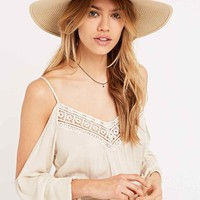 Straw Floppy Panama Hat in Natural - Urban Outfitters