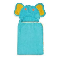 Neat Solutions® 100% Cotton Hooded Towel in Turquoise Elephant