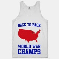 Back To Back World War Champs (Tank) | LookHuman.com