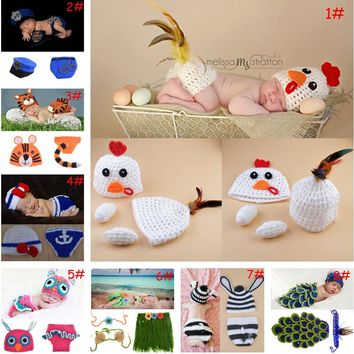 Crochet Animal Designs for  Baby Photography