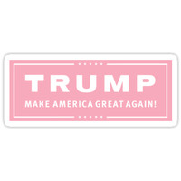 'Preppy Pink Trump Make America Great' Sticker by theroyalsass