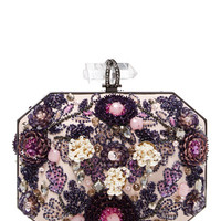 Iris Embellished Clutch by Marchesa at Gilt