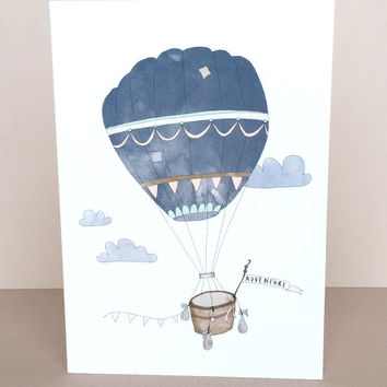 Hot Air Balloon Adventure Greeting Card by In The Daylight