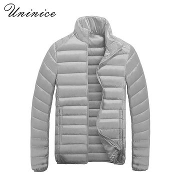 Winter 90% Down Coats Plus Size 4XL DOWN Jacket Men Stand Collar Thick Down Jacket Male Candy Color White Duck Down Warm Coats