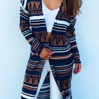 Cupshe Take Care Abstract Printing Long Cardigan