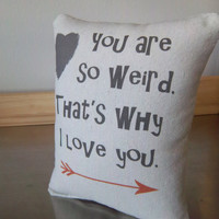 Weird pillow guy gift boyfriend birthday gift funny cotton cushion