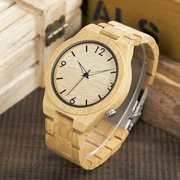 Bamboo & Wood Natural Watch for Men
