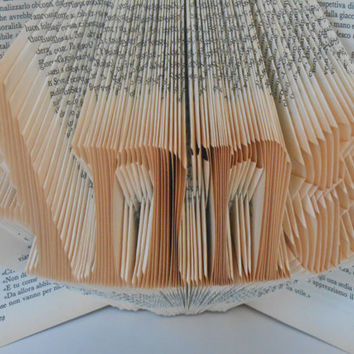 Folded Book Art - Decorative Arts - Book Sculpture - Name of four letters - Gift idea