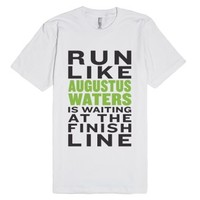 Run-Unisex White T-Shirt