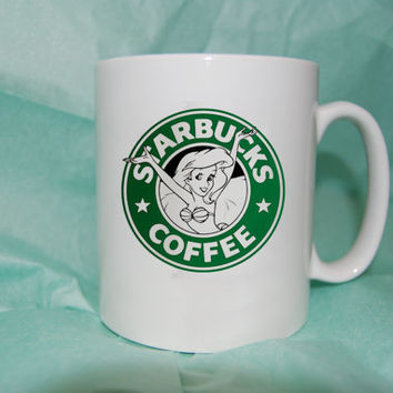 STARBUCKS Ariel-The Little Mermaid mug coffee, mug tea, size 8,2 x 9,5 cm heppy cofee.