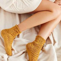 Chevron Crochet Scallop Sock