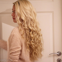blonde curly hair tumblr - Google Search