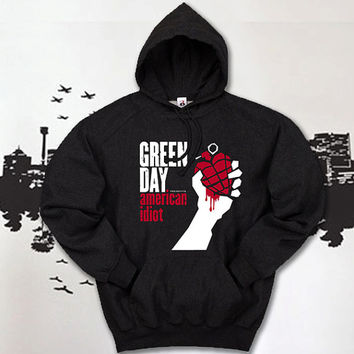 greenday american idiot hoodie unisex , hoodie for women and men,hoodie size S,M,L,XL,2XL