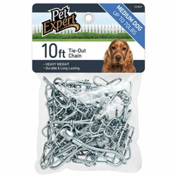 Pet Expert® PE223849 Dog Tie Out Chain, 2.5 mm x 10'