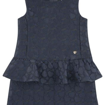 Armani Girls Navy Peplum Dress