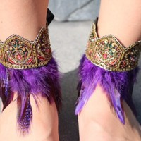 Bohemian Ankle Cuffs from Cosmic Kinship