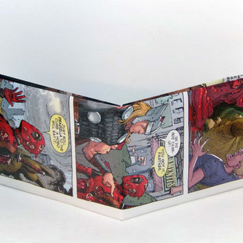 Comic Book Wallet// Deadpool and Thor
