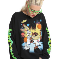Space Jam Bugs Bunny & Taz Girls Sweatshirt