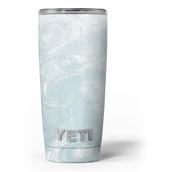 Blue Slate Marble Surface V1 Yeti Rambler Skin Kit
