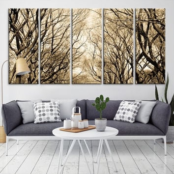 50154 - Forest Wall Art- Autumn Canvas Print- Forest Canvas- Forest Canvas Art- National Art Print- Canvas Print- Large Wall Art-