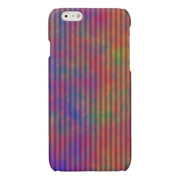 Psychedelic Stripes - Colorful Striped Abstract Glossy iPhone 6 Case