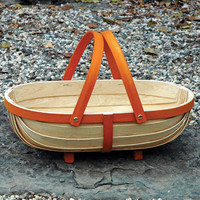 Wooden Trug |Willow Basket | Kinsman Garden