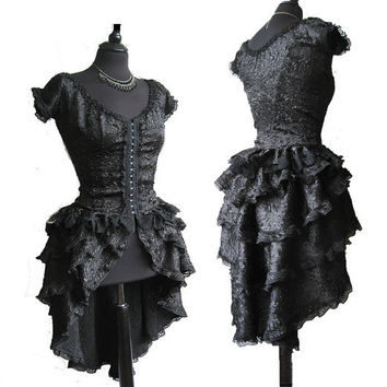 blouse and bustle black victorian inspired by SomniaRomantica