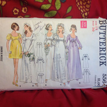 Multiple Bridal Dresses Pattern Butterick 5564 Cut- Vintage 1960's