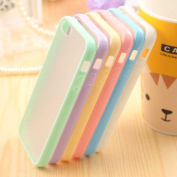 Ultra Thin Fashion Cute Candy Color Cover Bag Phone Cases For Apple Iphone 5 Case