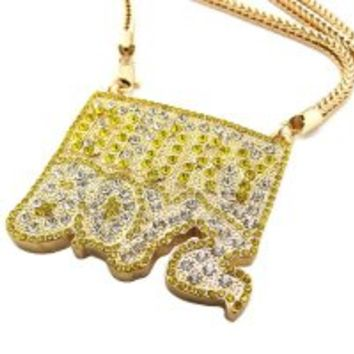 "New Iced Out Glory Boyz Pendant 4mm/36"" Franco Chain Hip Hop Necklace XP932G"