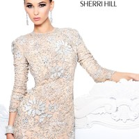 Sherri Hill 21073 Short Beaded Cocktail Prom Dress