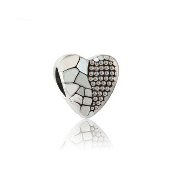 Free shipping 2016 fashion alloy Beads European Style heart bead charms fit Pandora Bracelet&bangle Necklace DIY Jewelry YW15094