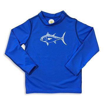Bluefin Tuna Long Sleeve Rash Guard UPF 50+