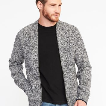 Wool-Blend Full-Zip Sweater for Men | Old Navy
