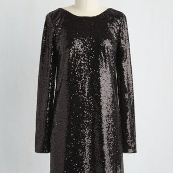 Mid-length Long Sleeve Clink and Be Merry Dress