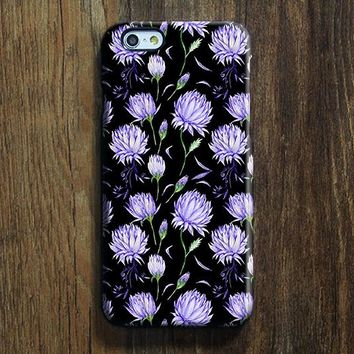 Black Violet ÌâåÊChic Floral iPhone 6s Case iPhone 6s Plus Case iPhone 6 Cover iPhone 5S 5 iPhone 5C iPhone 4/4ss Galaxy S6 Edge Galaxy s6 s5 Galaxy Note 5 Phone Case 146