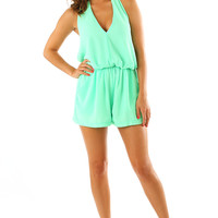 Make It To Heaven Romper: Mint