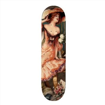 Victorian Pin Up Girl Dress Fashion Costume Paris Custom Skateboard