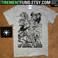 super brutal ANIMAL RIGHTS TSHIRT just like the backpatch but in shirt form