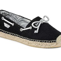 Women's Katama Espadrille in Black Canvas by Sperry
