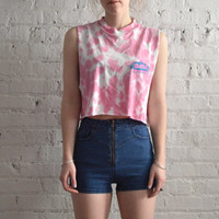 Tie Dye DARE Crop Top - S/M