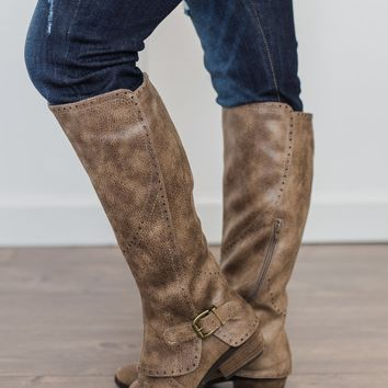 Not Rated Yuriko Boots- Taupe