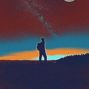 The Milky Way, The Blood Moon And The Explorer By Adam Asar 5 - Art Print