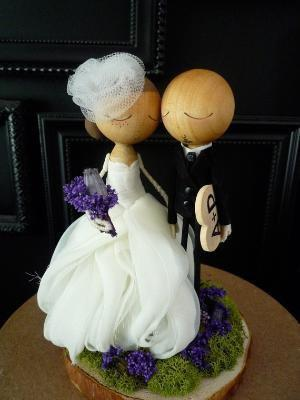 Custom Keepsake Wedding Cake Topper with Custom by bthanari