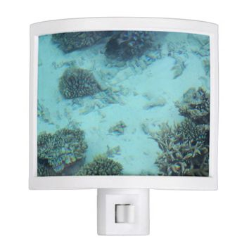 Underwater Ocean White Sand Lagoon Coral Night Light