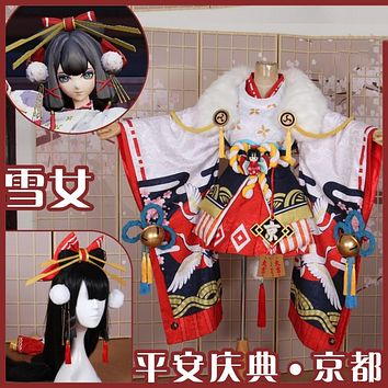 Game Onmyoji Hotaru Kei Celebration Gorgeous Kimono Role Play Cosplay Costume For Halloween Customized