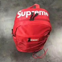 Supreme Letters mass sports leisure backpack bag for men and women students skateboard
