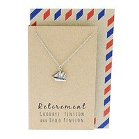 Murielle Sailboat Necklace, Retirement Gifts for Women